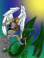St Mike and the Dragon by Tagnikzur-clan