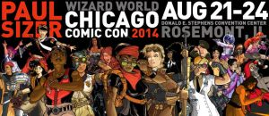 Chicago Comic Con Promo Banner by PaulSizer