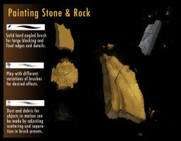 tips for painting rock textures by DigitalCutti