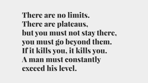 Bruce Lee Quote | There are no limits | Full HD Wp by zaffa91