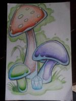 Mushroom Party by Camcooney