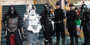 Sith Lord and Imperial Troopers at LB Comic Con by trivto