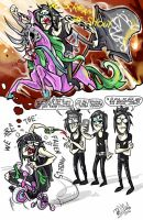 Black Drunking Brides - Red wine and the bicycle by dragon-flies