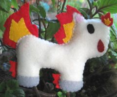 Ponyta Commission by P-isfor-Plushes