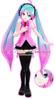 .:Model DL:. LAT Mirai-Style Electric Love Miku by MMDAnimatio357