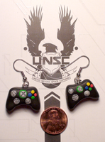 Xbox 360 Controller Earrings - Black by Resonance21
