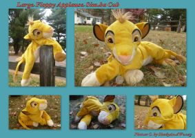 Large Floppy Applause Simba Cub by DoloAndElectrik