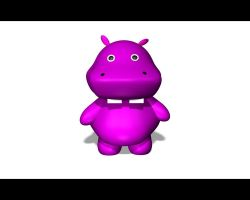 Purple Hippo by Lucifer-Enterprises