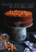 Banana Walnut Cake with Salted Candied Peanuts by munchinees