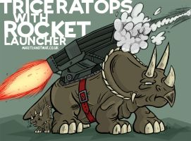 Triceratops w' Rocket Launcher by GagaMan