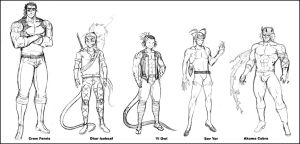 Outlaw Line Up by CoralSnake