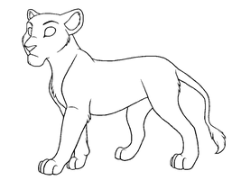 Free Lioness Line Art by Magicionary