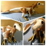 Brown Feathered Velociraptor Plush by Katie-May-sews-stuff