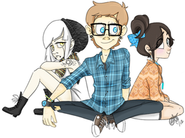 Portal 2: Hipsters by muminika