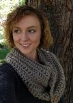 Chunky Cowl-Walnut Brown by VanillaBeanCafe
