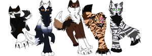 Leaders of the clans~ (deputy's is a WIP) by Claw-kit
