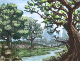 landscape speed-painting by v3lv3l