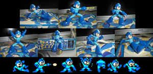 MegaMan Figure Classic Poses by hfbn2