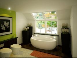 Master's Private Bathroom 02 by arkiden124