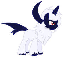 Absol Pony by Nukeleer