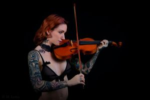 Tattoos and Violin VII by M-Lewis