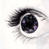 Your eyes hold the window to the universe. by BadLuckAbby