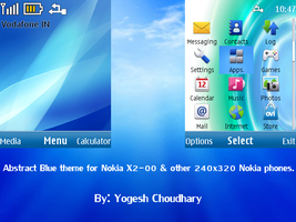 Abstract blue theme for Nokia x2-00 and other by cyogesh56