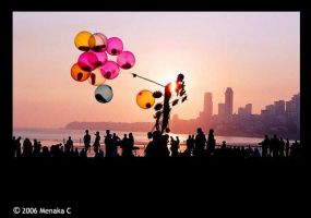 the baloon seller by Madmenu
