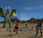 March theme: Female Muscle vs. Monsters! by TNoire