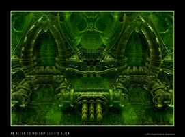 an altar to worship Giger's alien by fraterchaos