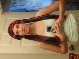 monster high draculaura wig... ALL DONE! by misaapril288