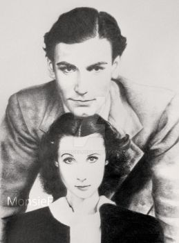 Laurence Olivier and Vivien Leigh by MonsieF
