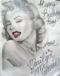 Marilyn Monroe by BlackAngel101