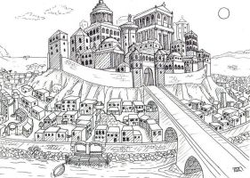 Neanikis - City of towers by Feuerlilie