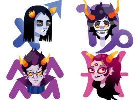 Homestuck Troll Stickers 3/3 by BrookiexMonster