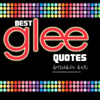 Best Glee Quotes Brush Set by retrodaancefreak