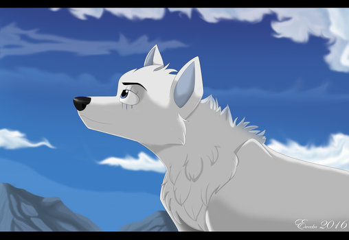 Sky and clouds (Art Trade) by Eweeka