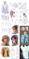 Various - SKETCH DUMP 2012-2013 by Palidoozy