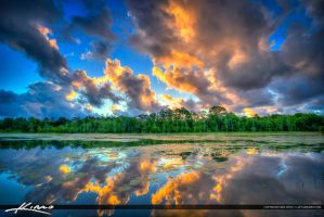 Riverbend-Park-Lake-at-Sunset-with-Clouds by CaptainKimo