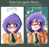 Meme  Before And After himika version by demonbp