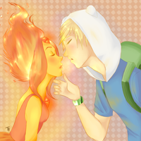 'Flaming Love' Colored by FucshiaWillow