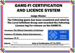 Judge Rinder Game-Fi Certificate by LevelInfinitum