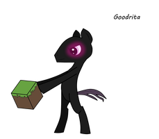 My Enderpony.  (MLP/Minecraft crossover) by Goodrita