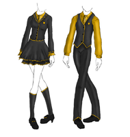 Uniform: Hufflepuff by KaoticDragonFlyer
