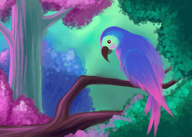 Little Parrot by LeftyNinja