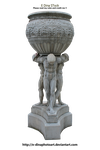 HQ PNG Stock Statue/Fountain by E-DinaPhotoArt