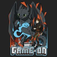 HTTYD2 T-Shirt Design:: Game On! by renkaz