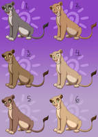 Lioness Points Adopts - CLOSED by Nala15