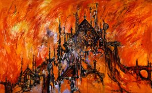 The Burning of the Carrion House Diptych by CliveBarker