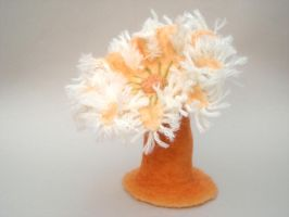 Needlefelted anemone by creturfetur